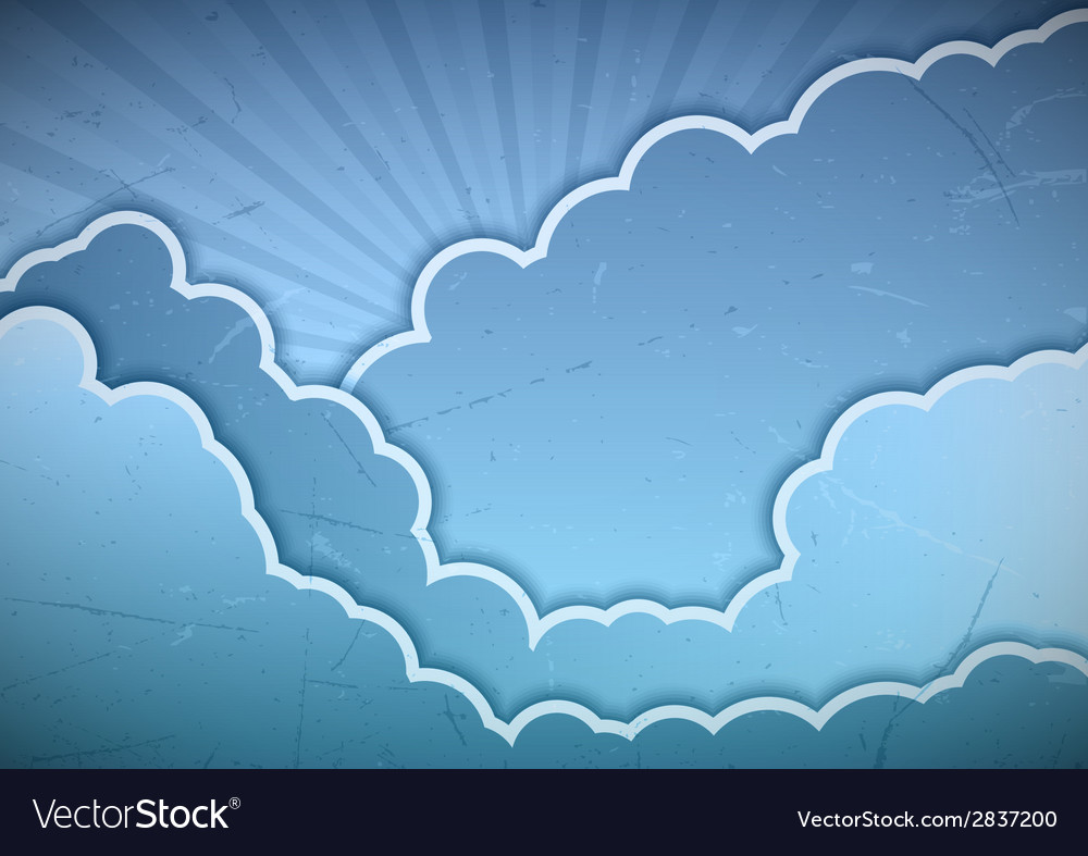 Clouds blue vector | Price: 1 Credit (USD $1)