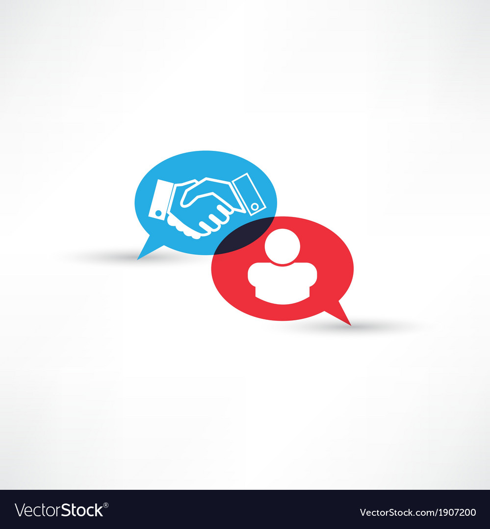 Contract handshake icon vector | Price: 1 Credit (USD $1)