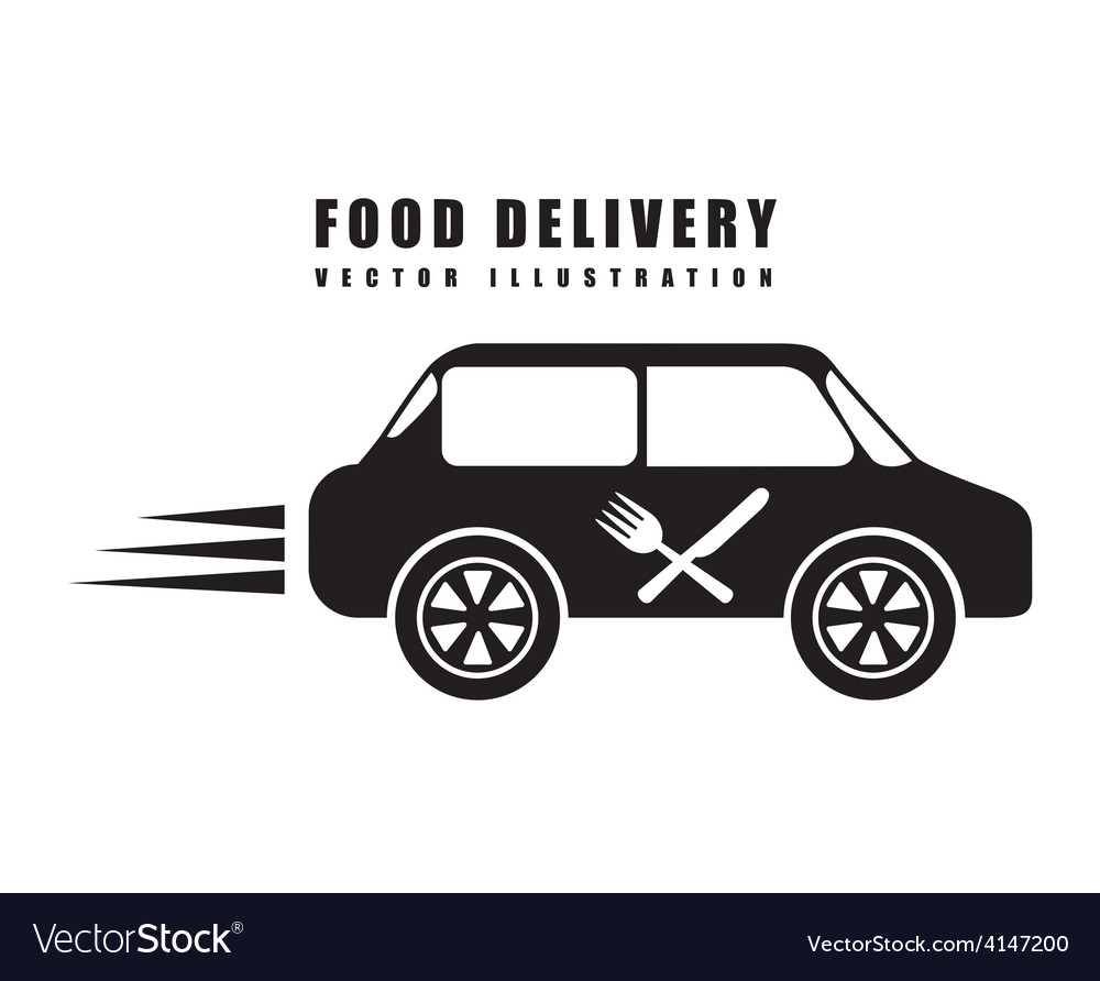 Food delivery vector | Price: 1 Credit (USD $1)