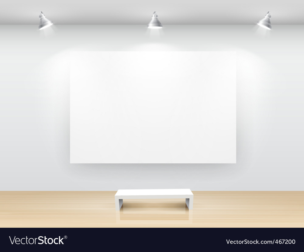 Gallery interior vector | Price: 1 Credit (USD $1)
