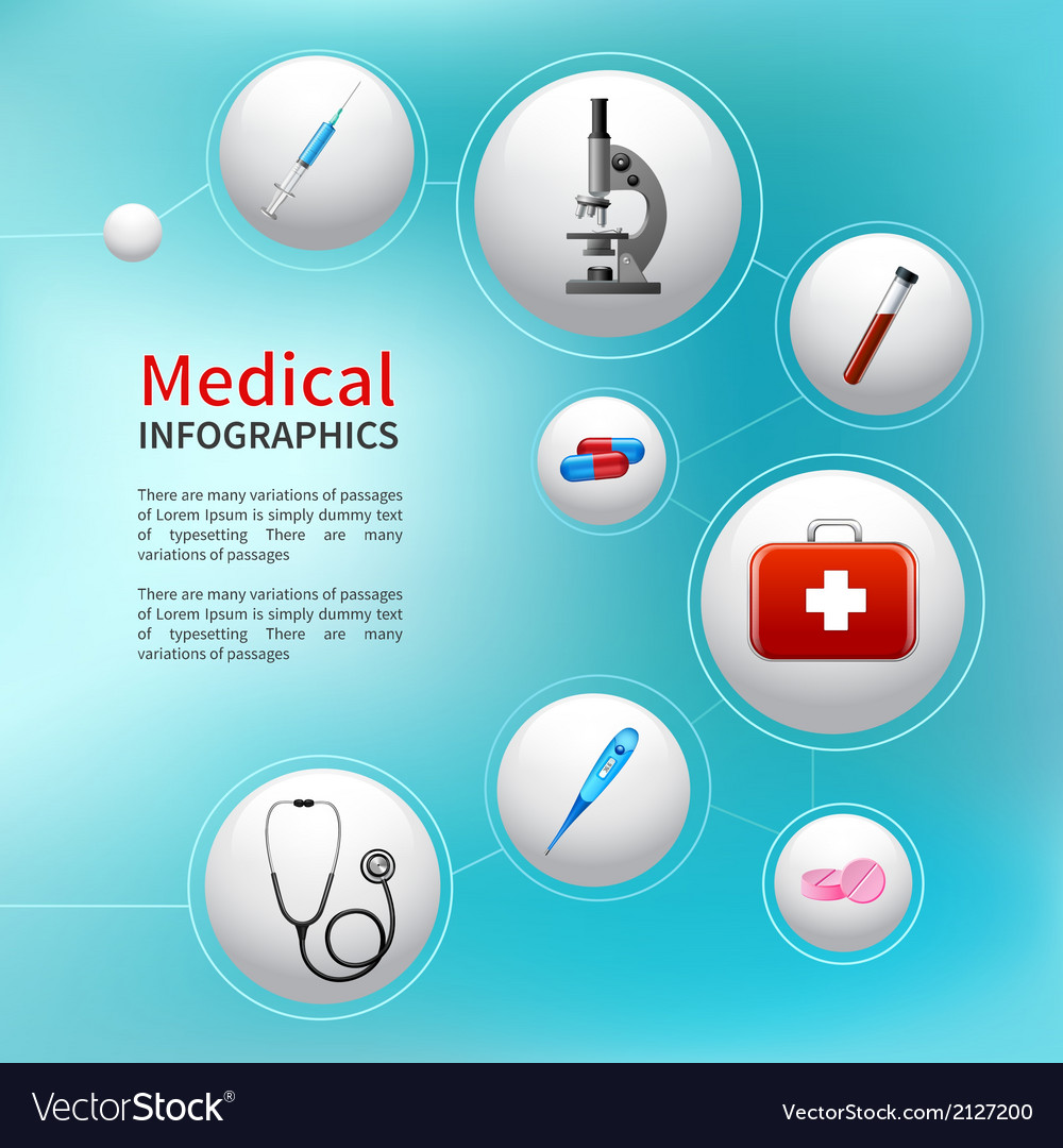 Medical bubble infographic vector | Price: 1 Credit (USD $1)