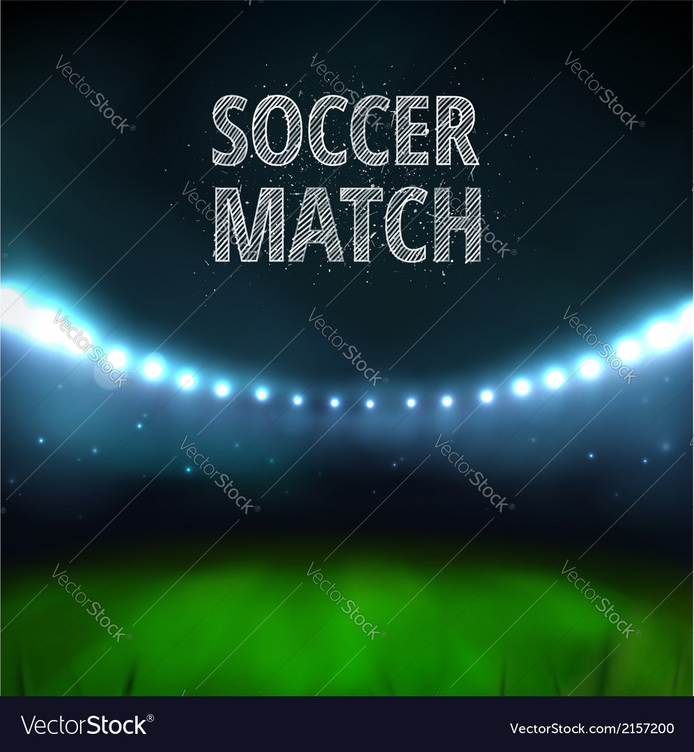 Soccer match vector | Price: 1 Credit (USD $1)