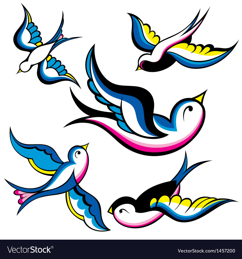 Tattoo style swallow vector | Price: 1 Credit (USD $1)