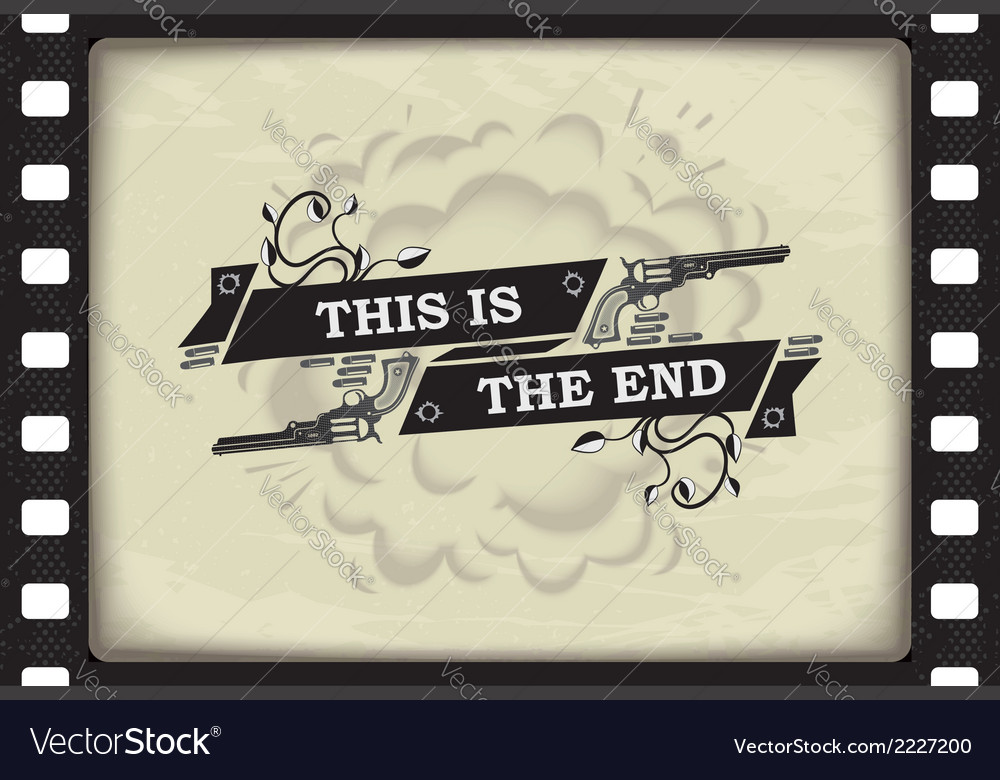 This is the end banner vector | Price: 1 Credit (USD $1)