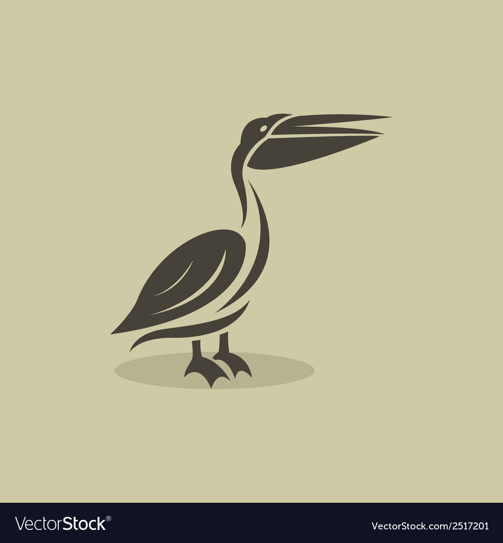 Billed stork vector | Price: 1 Credit (USD $1)