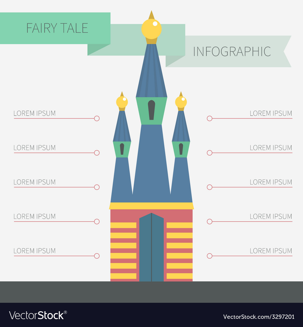 Castle infographic vector | Price: 1 Credit (USD $1)
