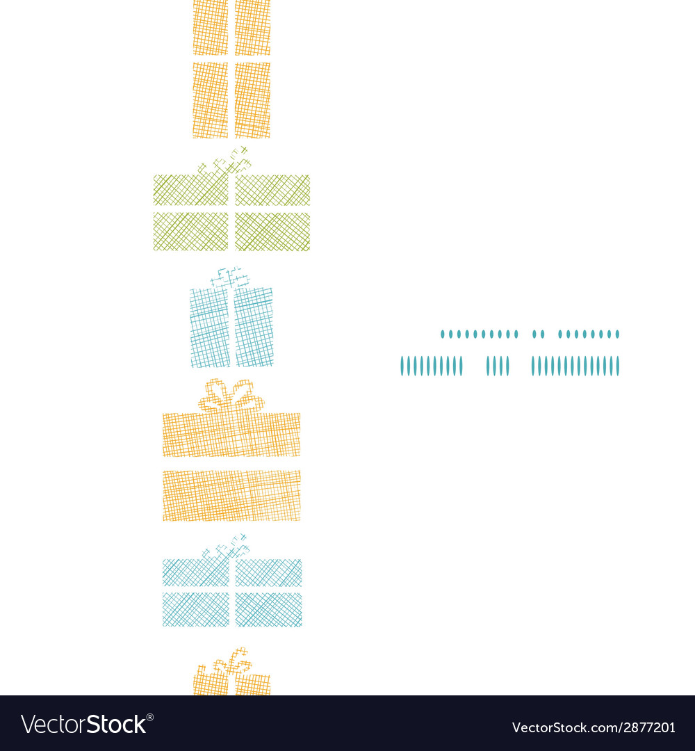 Colorful gift boxes textile texture vertical frame vector | Price: 1 Credit (USD $1)