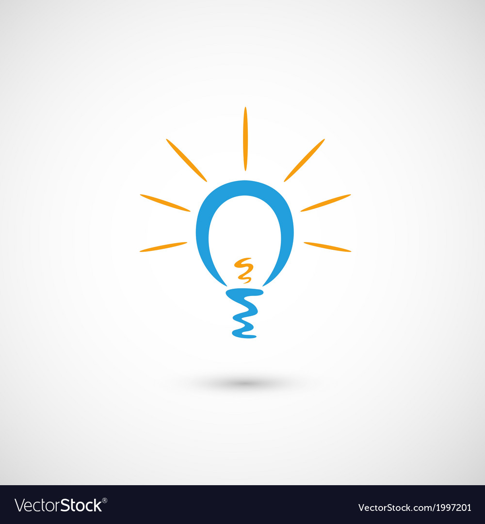 Eco bulb light icon vector | Price: 1 Credit (USD $1)