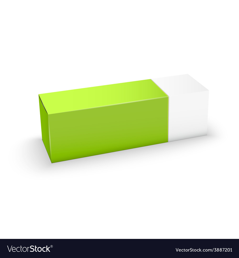 Package white and green box design vector | Price: 1 Credit (USD $1)