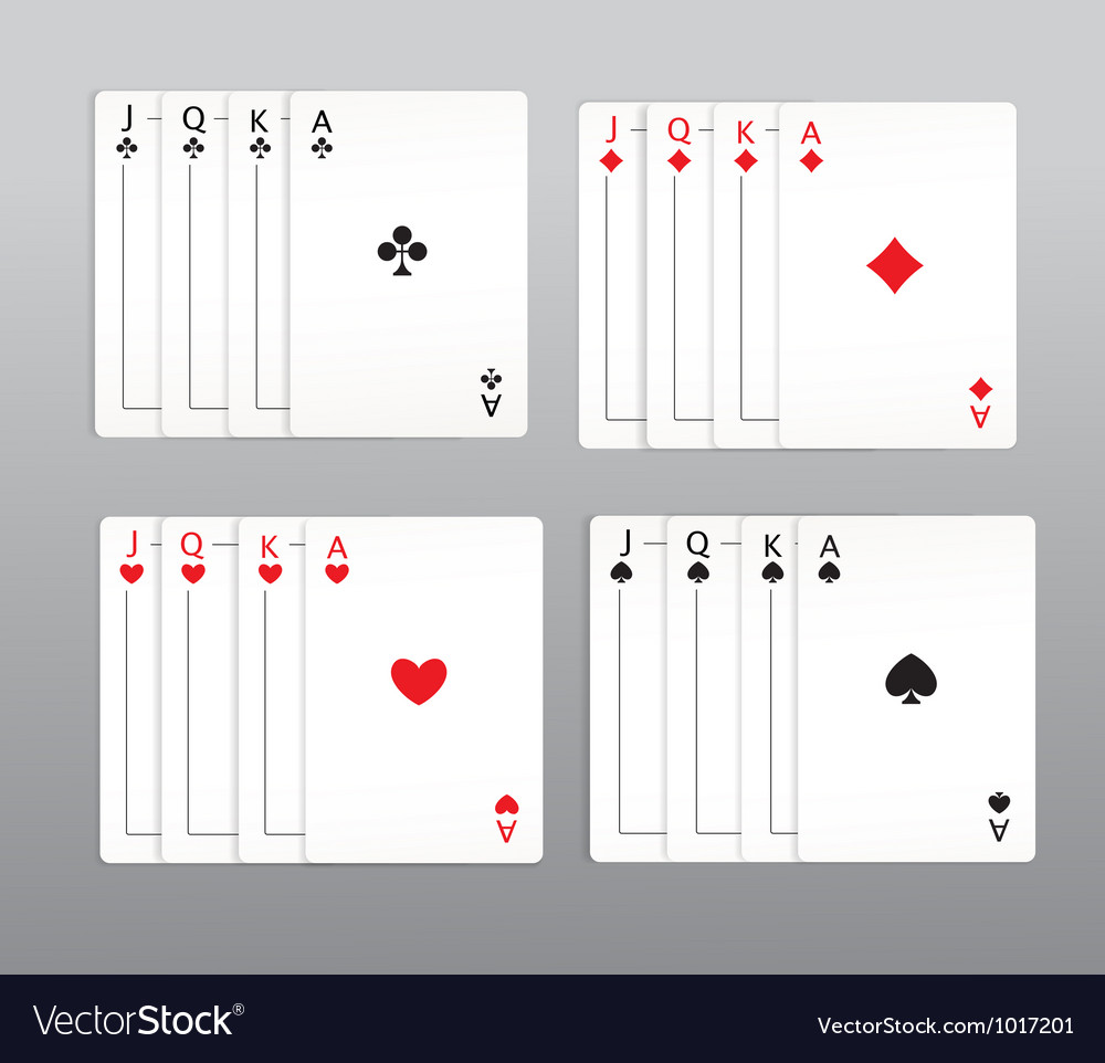 Playing cards set vector | Price: 1 Credit (USD $1)
