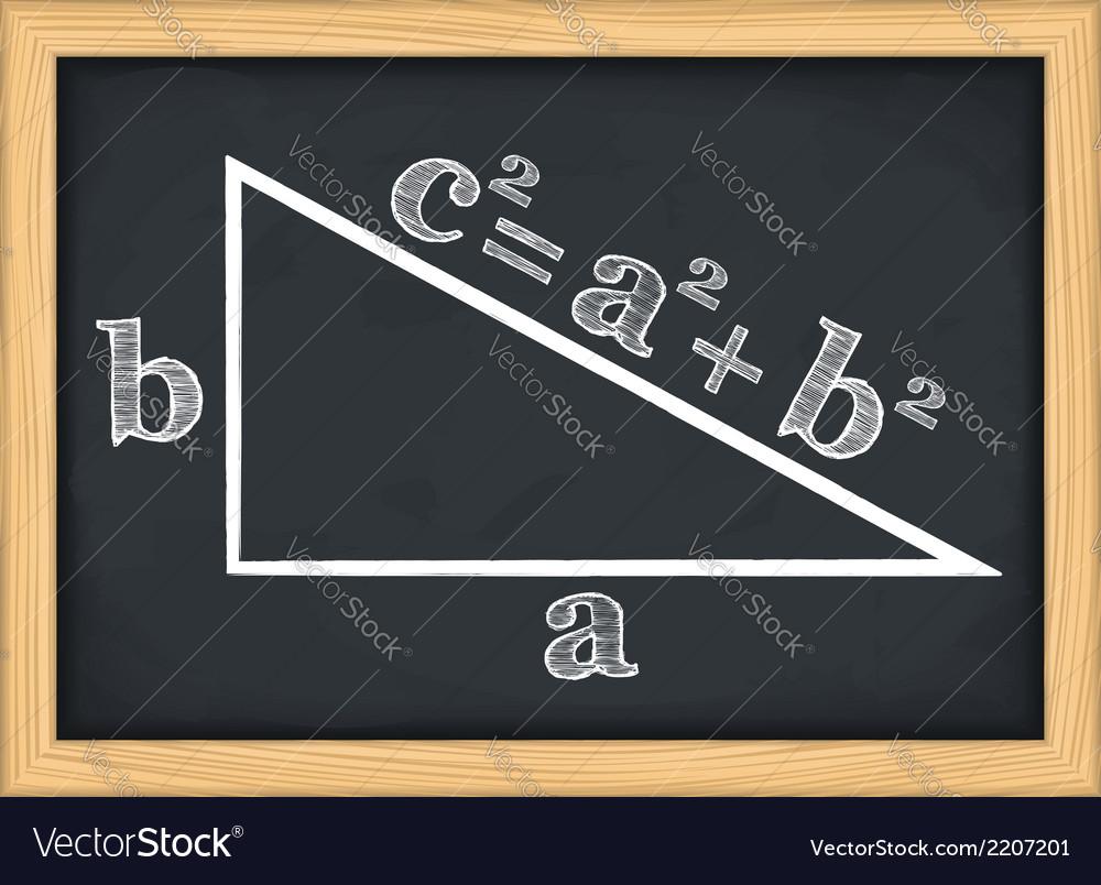 Pythagoras theorem vector | Price: 1 Credit (USD $1)