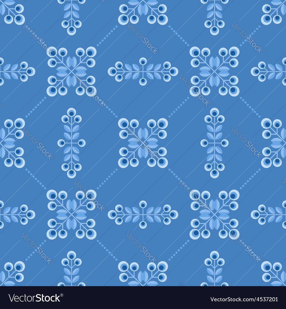 Seamless floral patern with abstract flowers vector | Price: 1 Credit (USD $1)