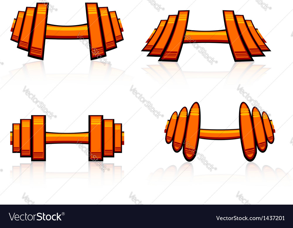 Set of strength training weights vector | Price: 1 Credit (USD $1)