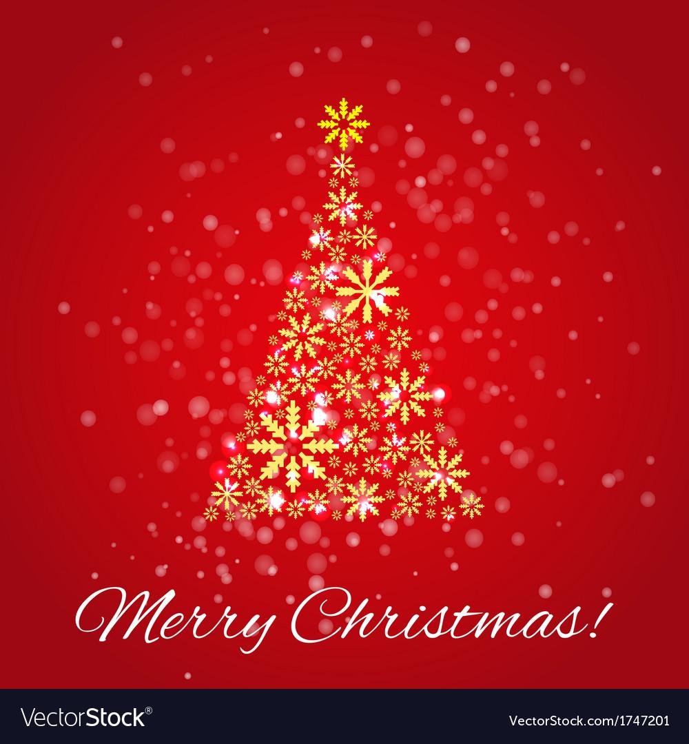 Shiny christmas tree vector | Price: 1 Credit (USD $1)