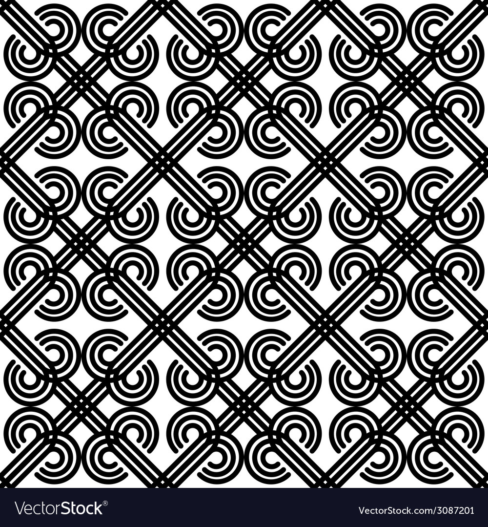Vintage seamless pattern black and white vector | Price: 1 Credit (USD $1)