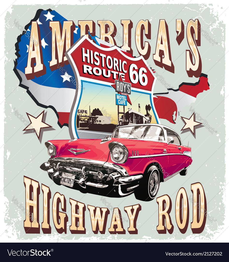 Americas classic car vector | Price: 3 Credit (USD $3)