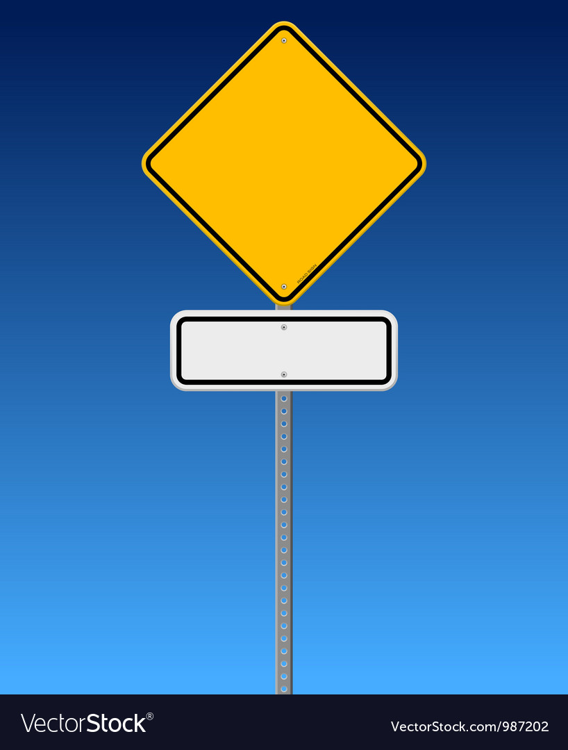 Blank road sign on blue sky vector | Price: 1 Credit (USD $1)