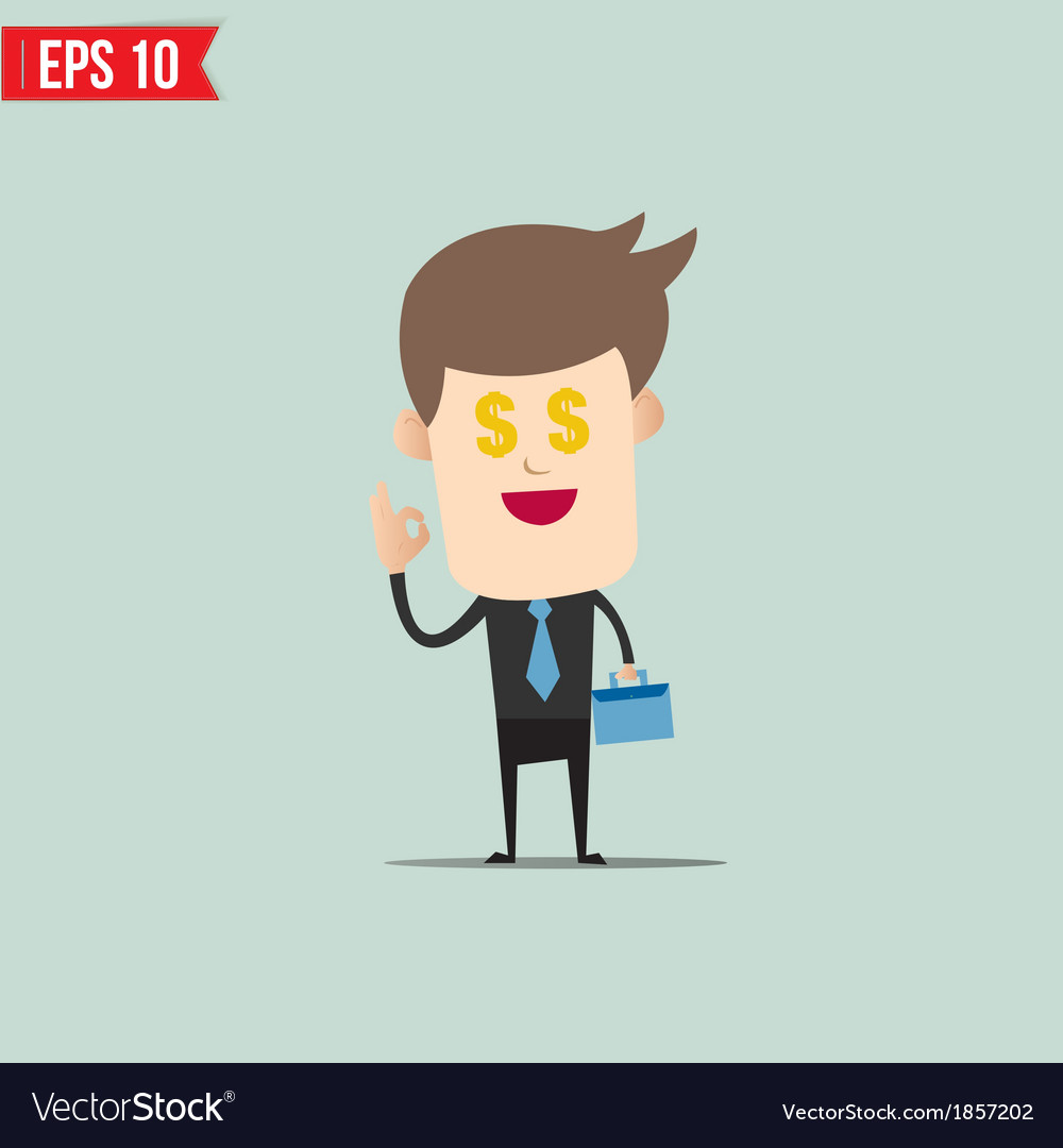 Business man and money vector | Price: 1 Credit (USD $1)