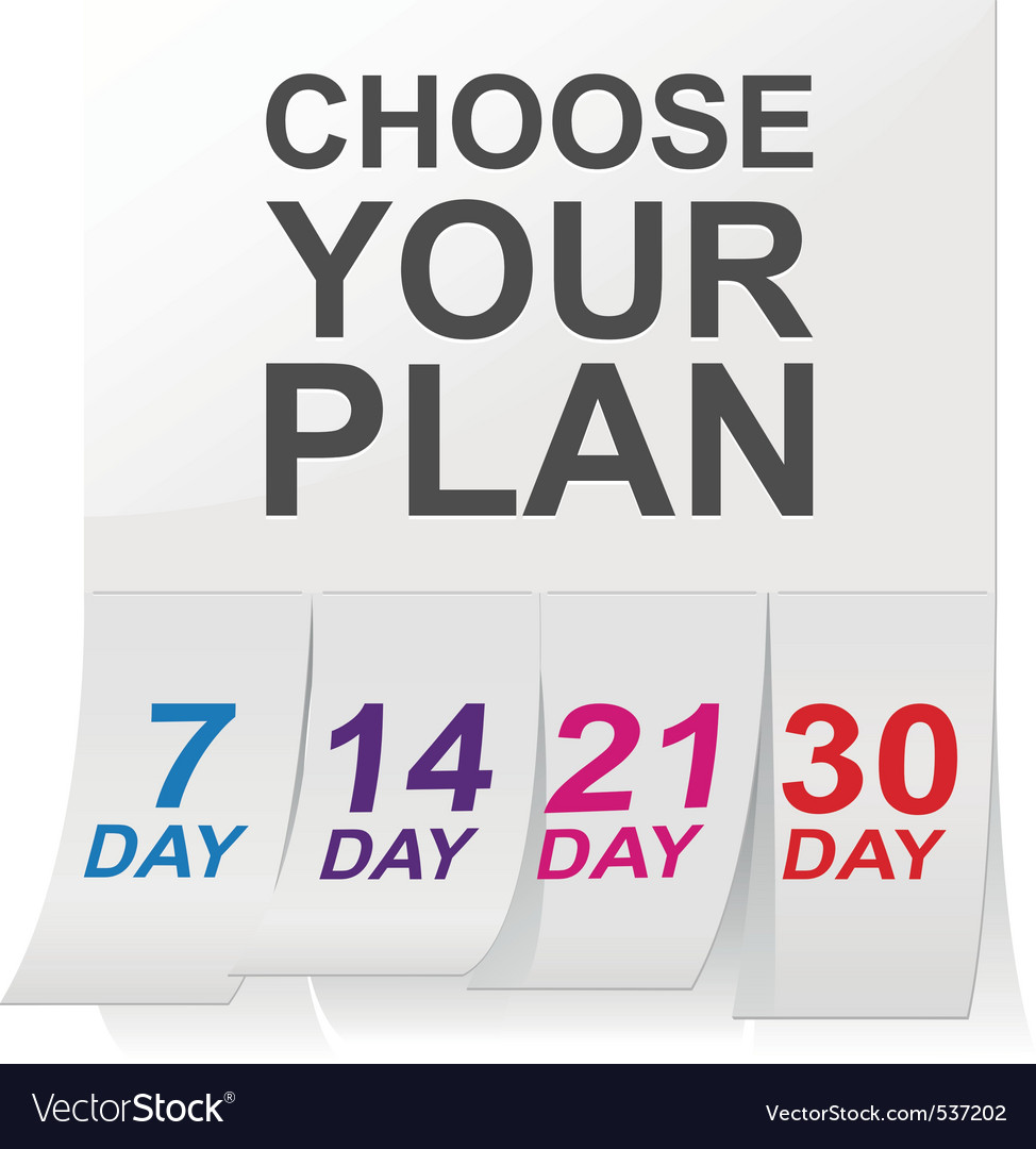 Choose your plan sign vector | Price: 1 Credit (USD $1)