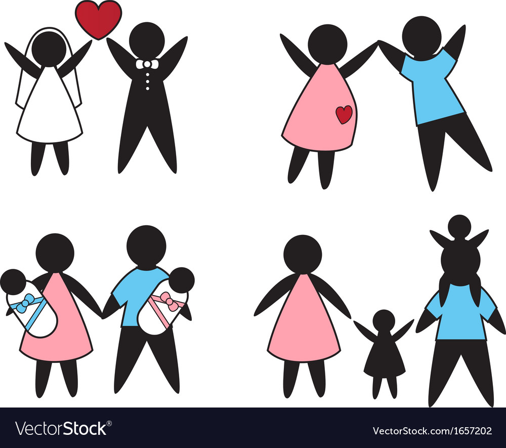 Family values vector | Price: 1 Credit (USD $1)