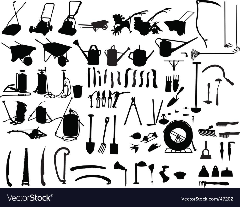 Garden instruments vector | Price: 1 Credit (USD $1)
