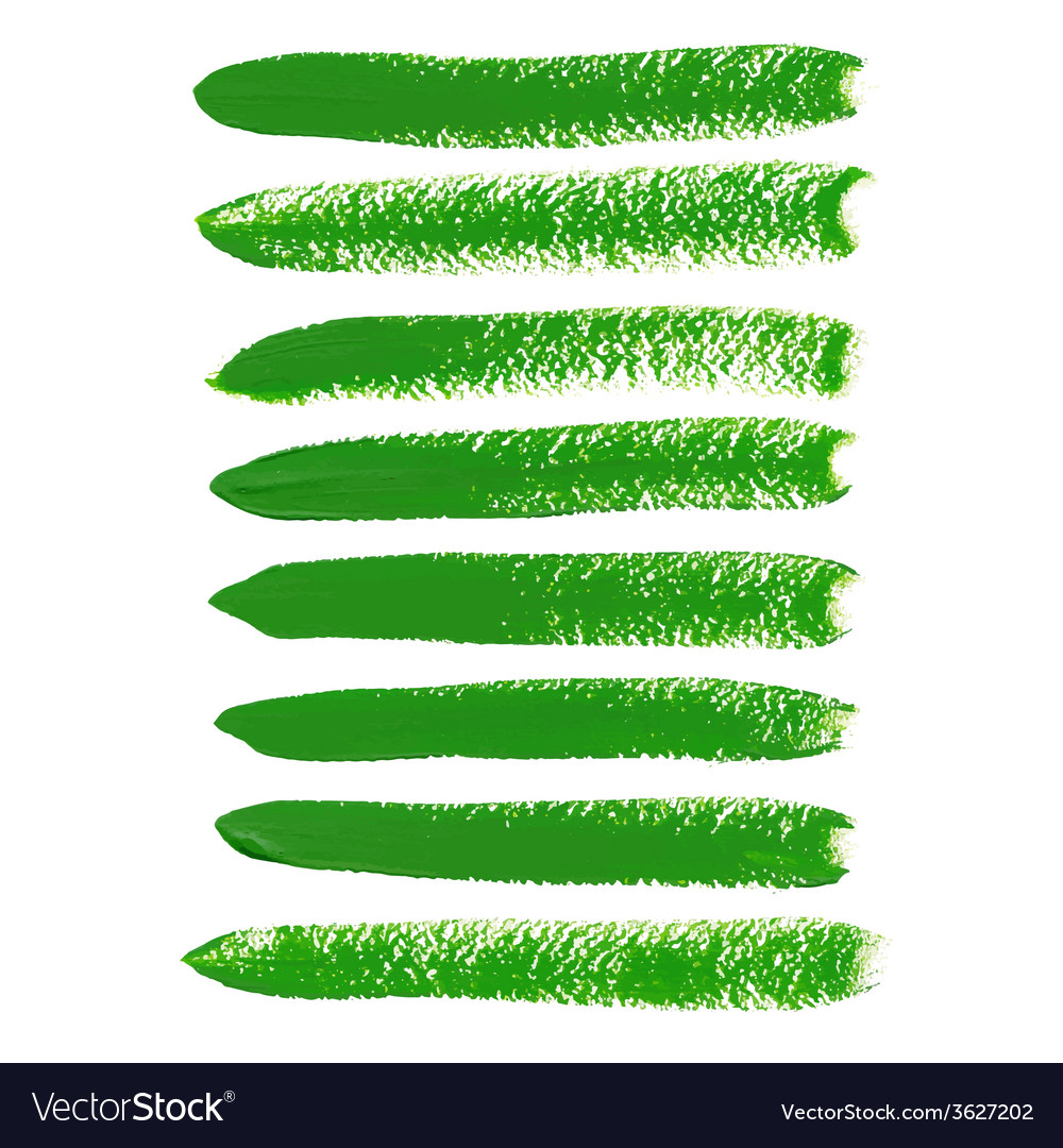 Green ink brush strokes vector | Price: 1 Credit (USD $1)