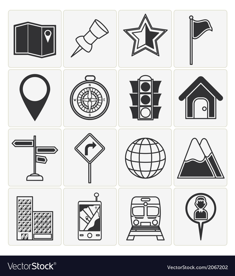 Map icons vector | Price: 1 Credit (USD $1)