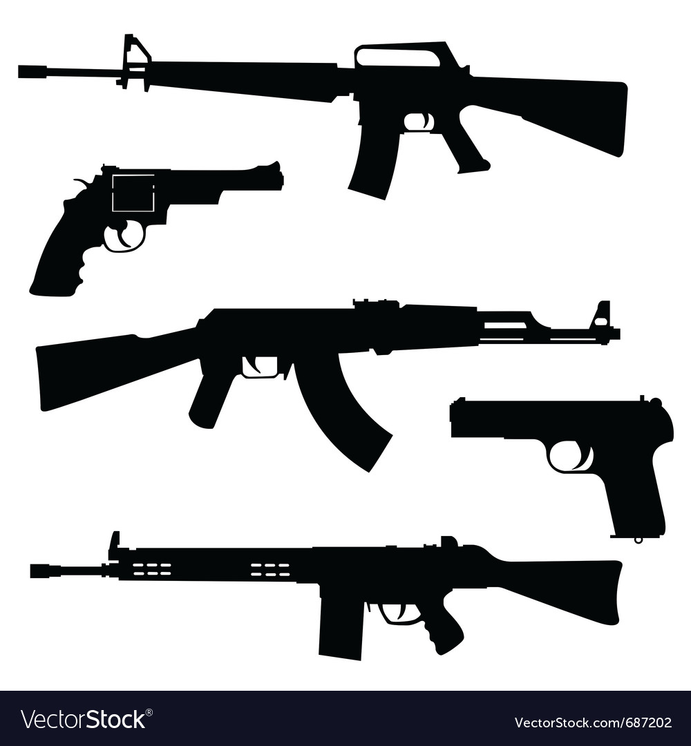Pistols and submachine guns vector | Price: 1 Credit (USD $1)