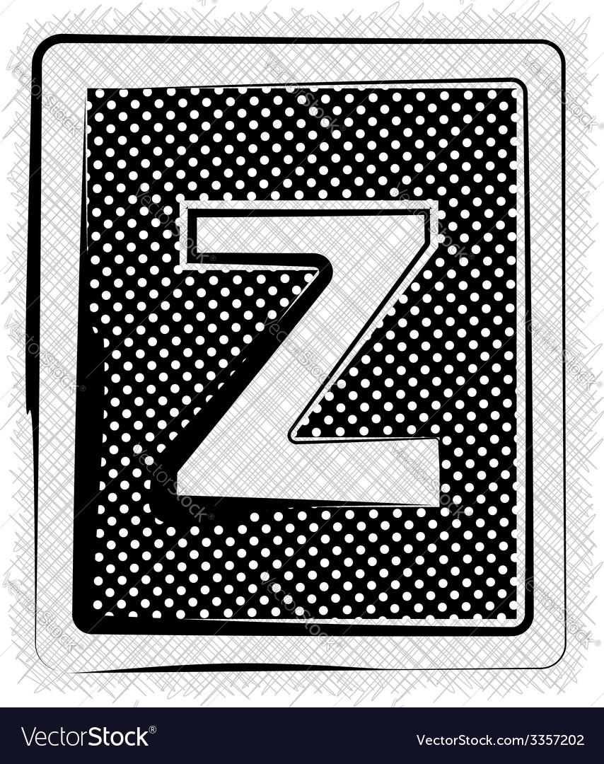 Polka dot font letter z vector | Price: 1 Credit (USD $1)