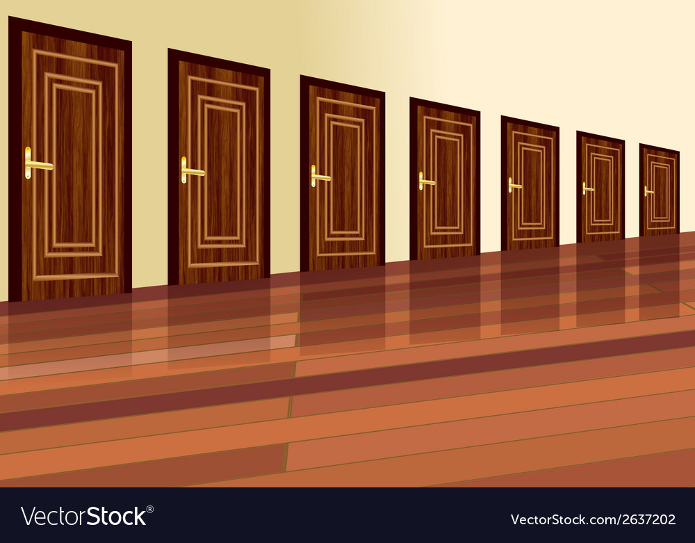 Row of doors vector | Price: 1 Credit (USD $1)
