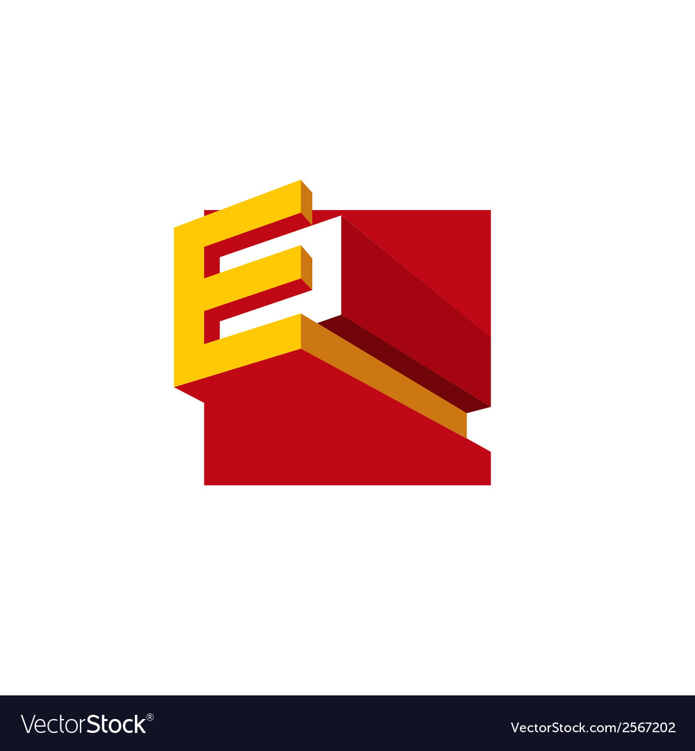 Sign the letter e vector | Price: 1 Credit (USD $1)