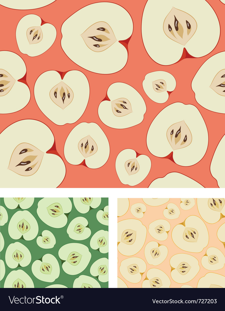 Apples seamless background vector | Price: 1 Credit (USD $1)