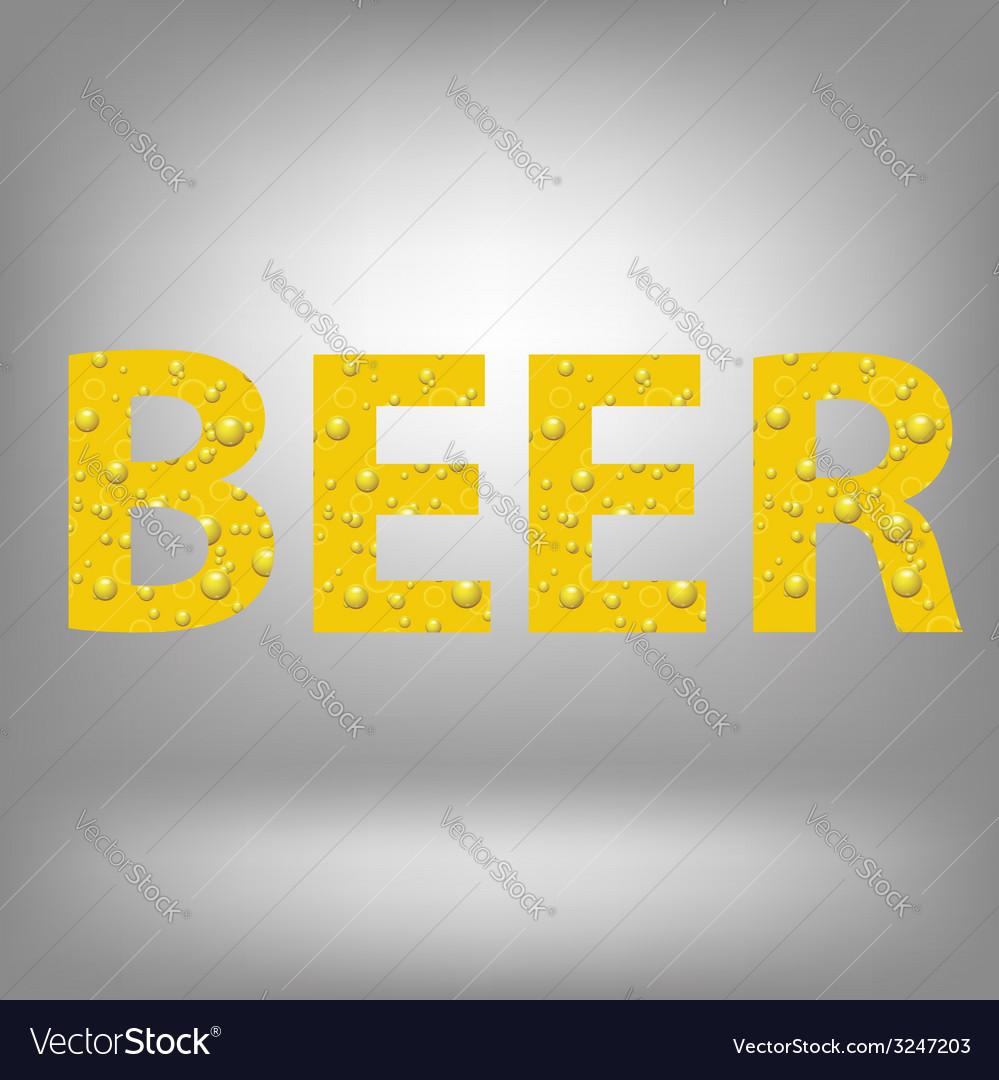 Beer text vector | Price: 1 Credit (USD $1)