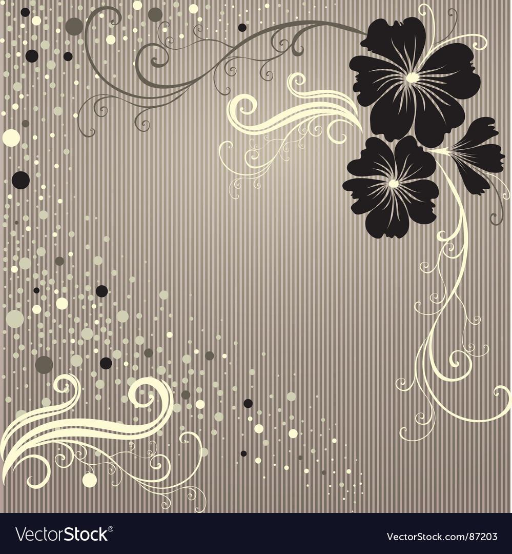 Floral vintage frame vector | Price: 1 Credit (USD $1)