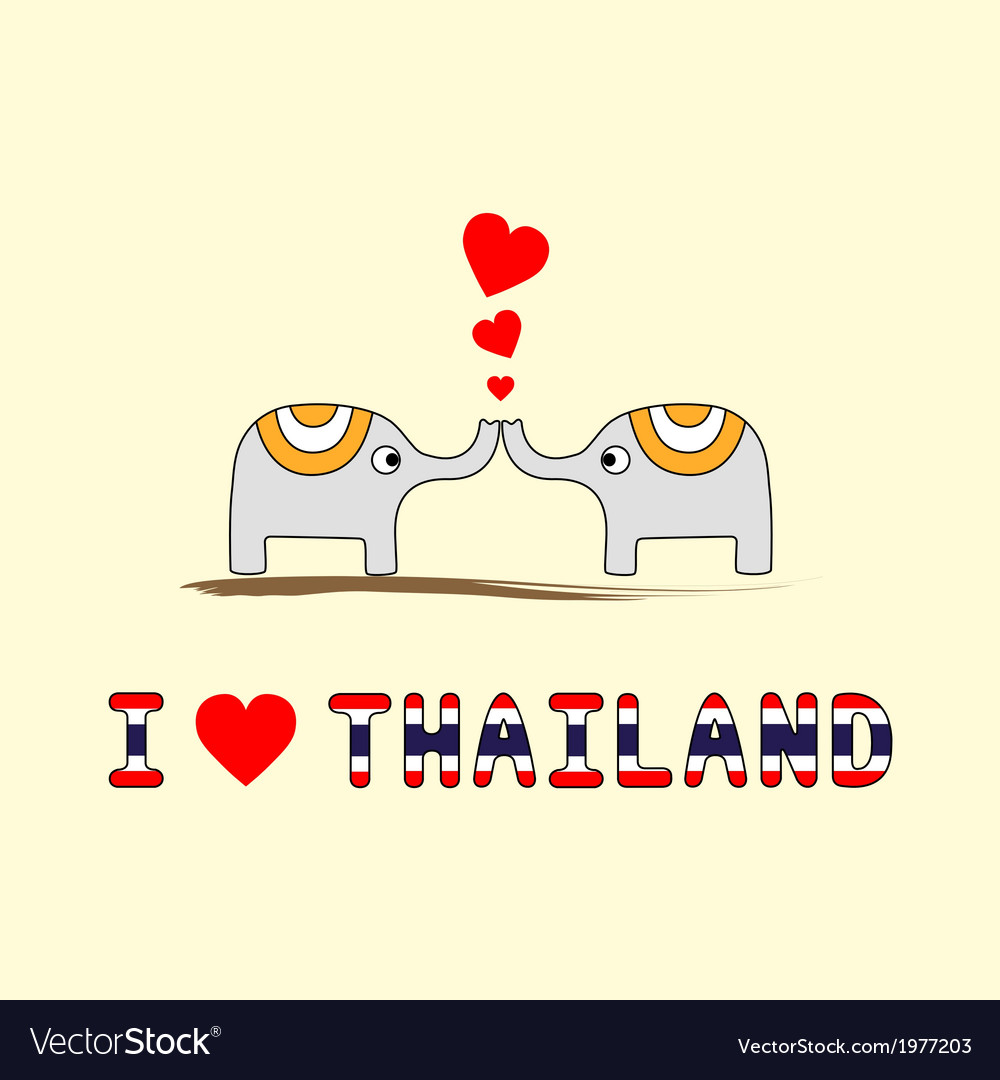 I love thailand5 vector | Price: 1 Credit (USD $1)