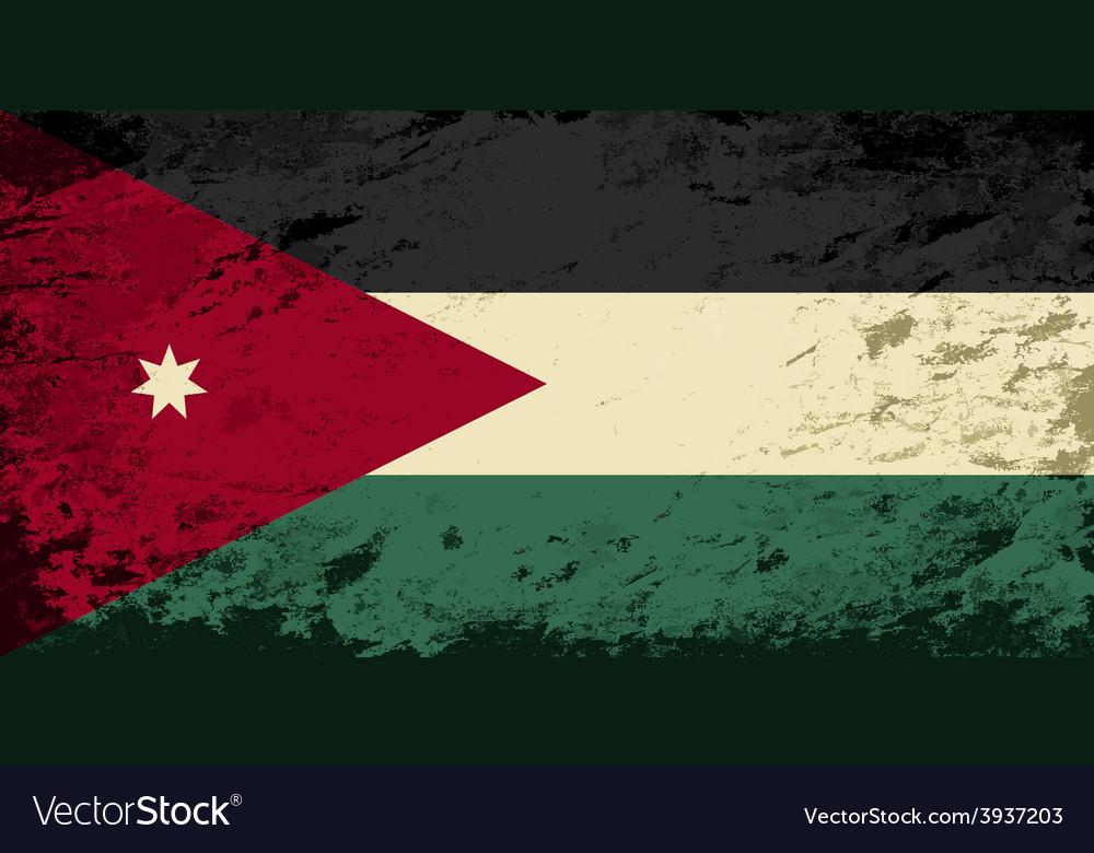 Jordan flag grunge background vector | Price: 1 Credit (USD $1)