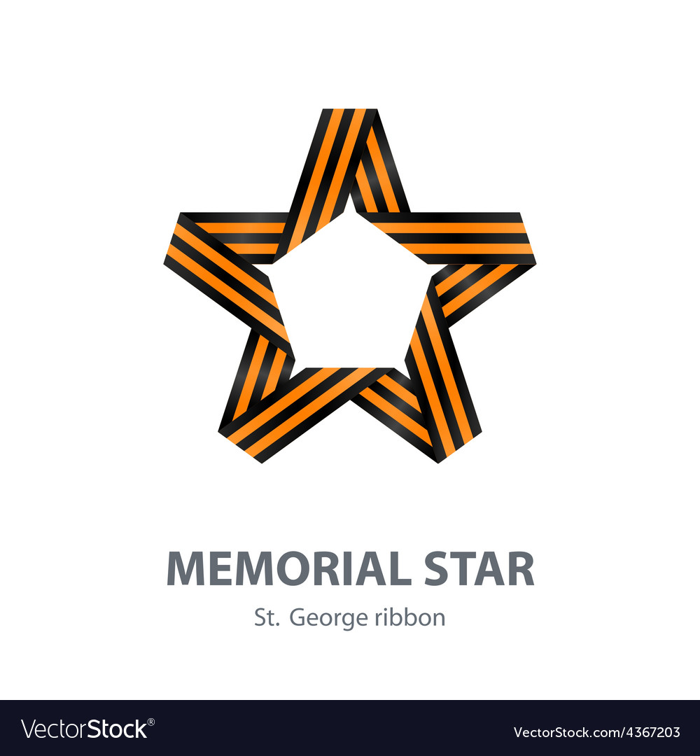 Memorial star for victory day made of st george vector | Price: 1 Credit (USD $1)