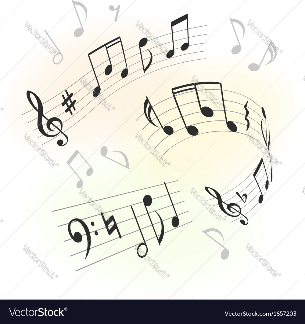 Music design elements vector | Price: 1 Credit (USD $1)