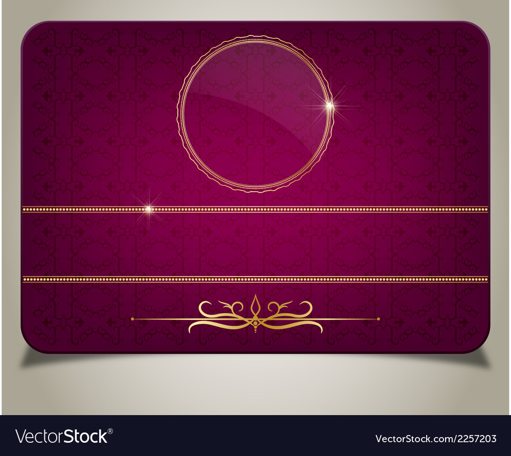 Purple gift card vector | Price: 1 Credit (USD $1)
