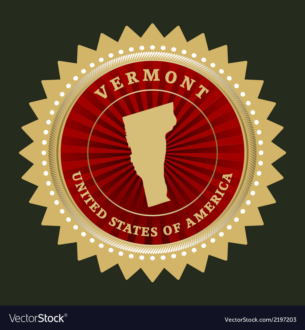 Star label vermont vector | Price: 1 Credit (USD $1)