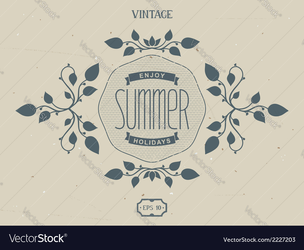 Summer victorian elements vector | Price: 1 Credit (USD $1)