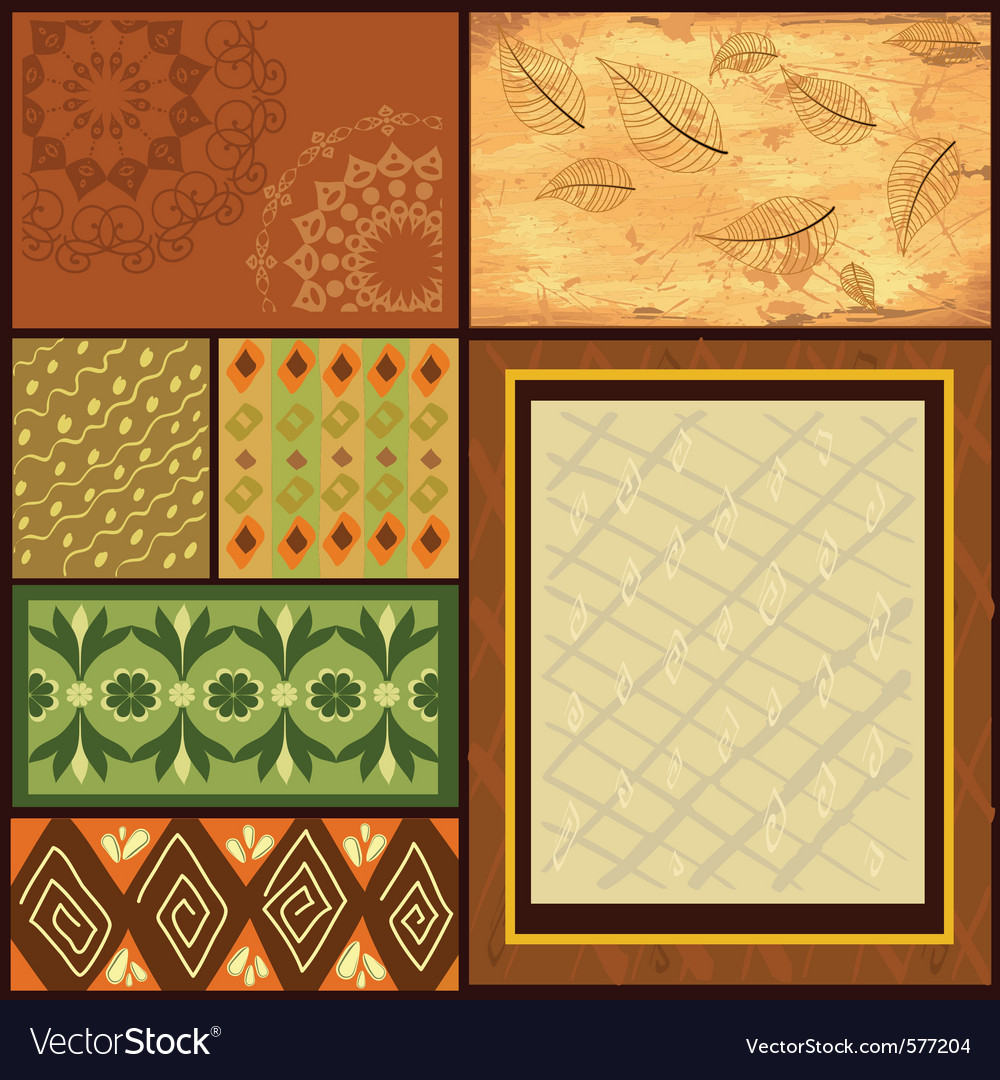 African backgrounds vector | Price: 1 Credit (USD $1)