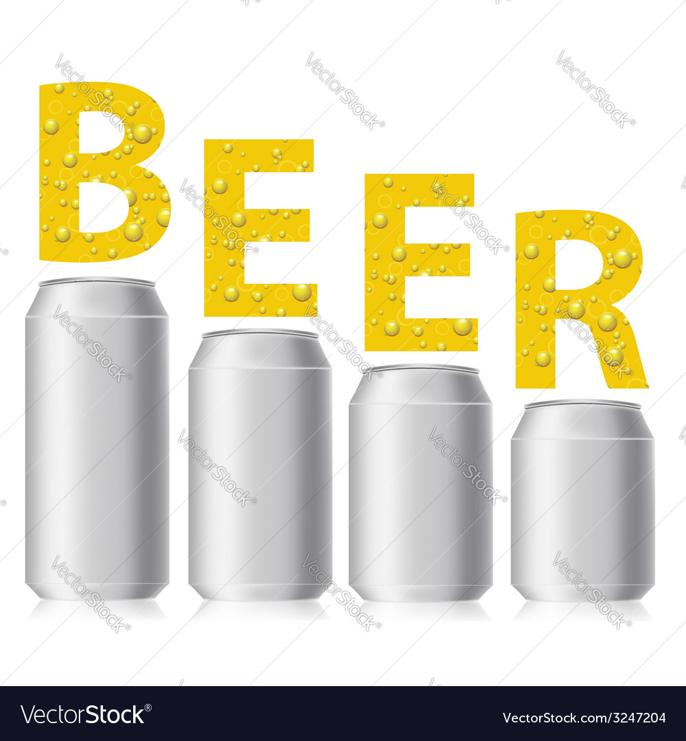 Beer cans vector | Price: 1 Credit (USD $1)