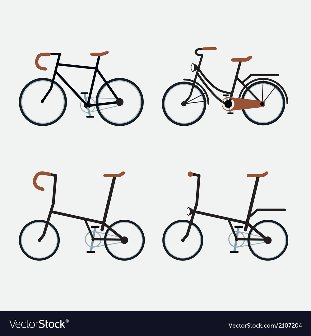 Bicycles 4 styles vector | Price: 1 Credit (USD $1)