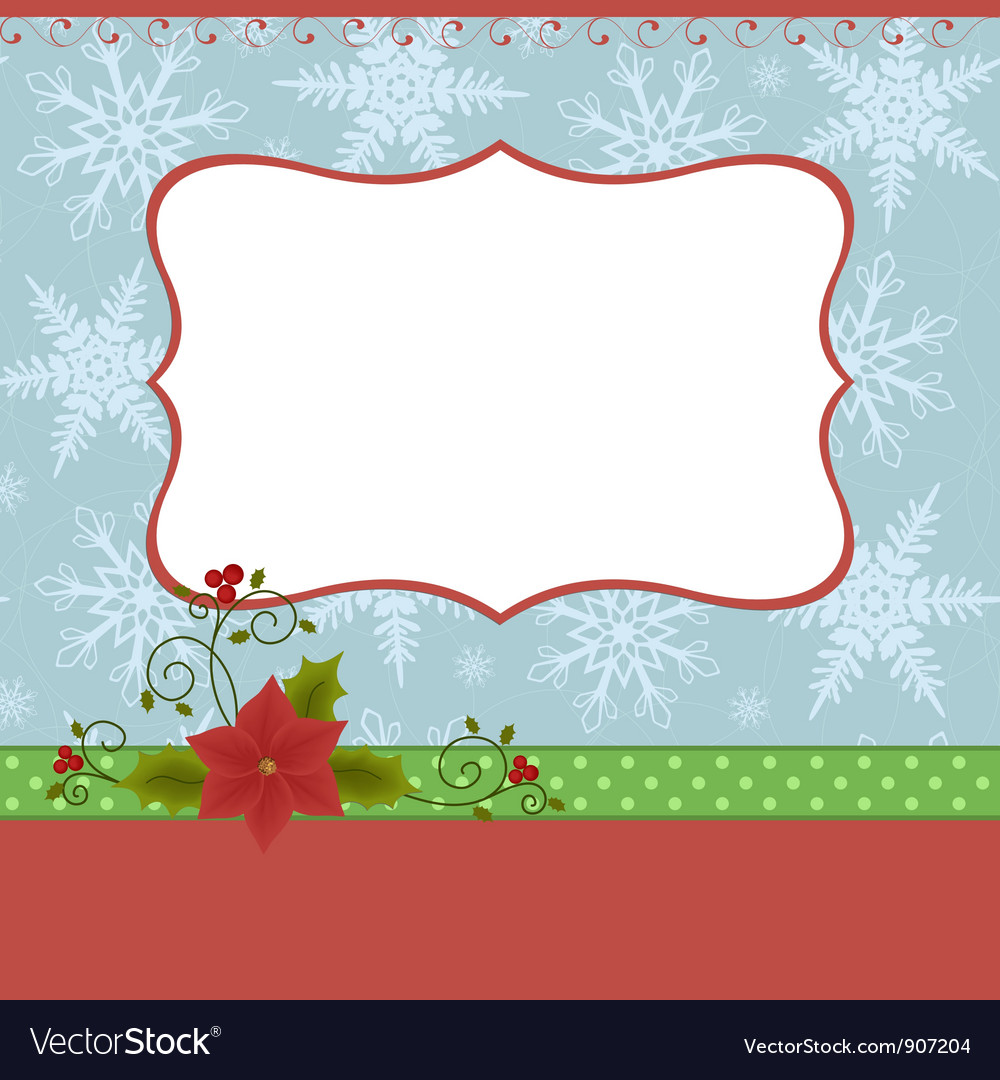 Blank template for christmas greetings card vector | Price: 1 Credit (USD $1)