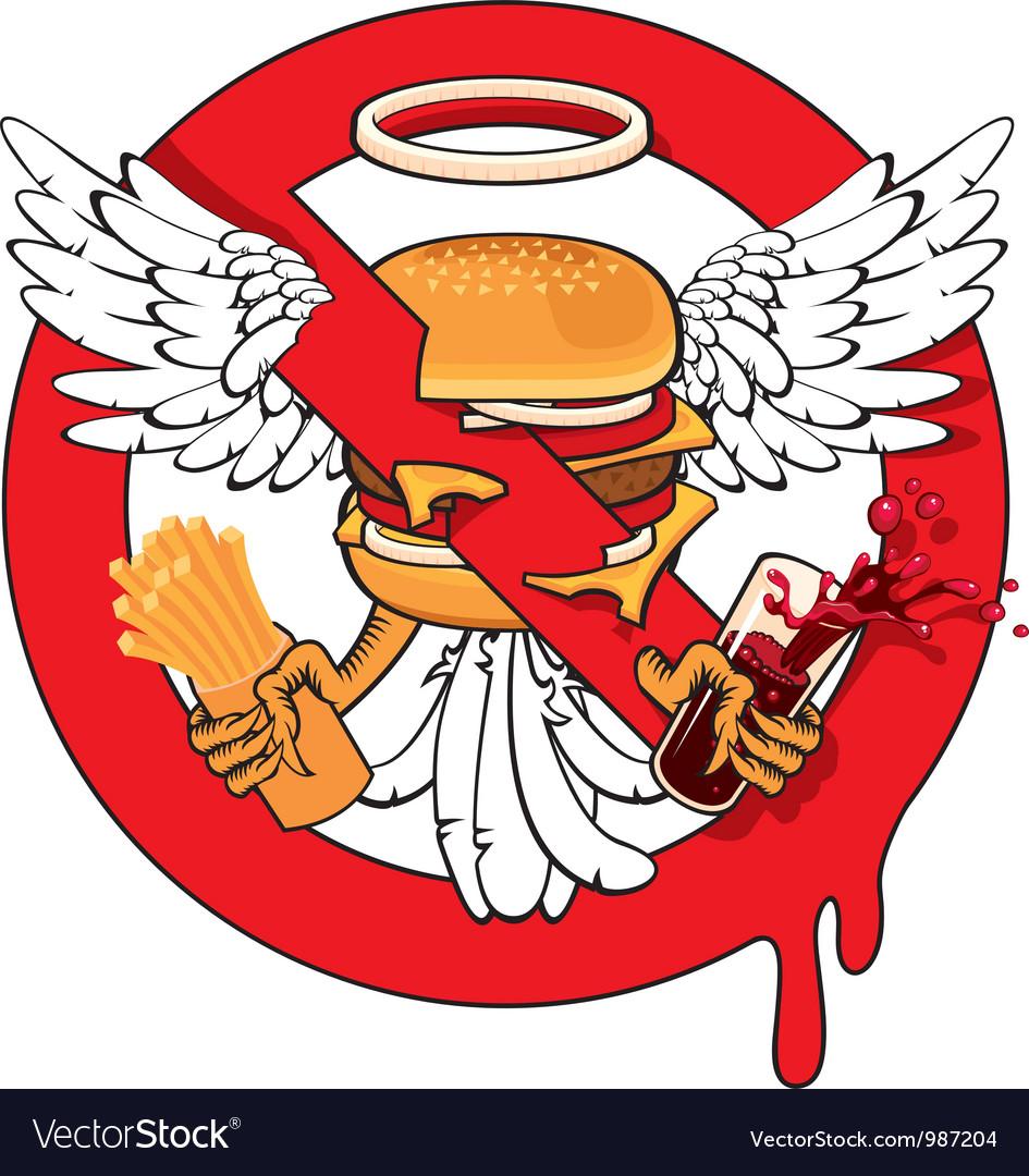 Cheeseburger ban vector | Price: 3 Credit (USD $3)