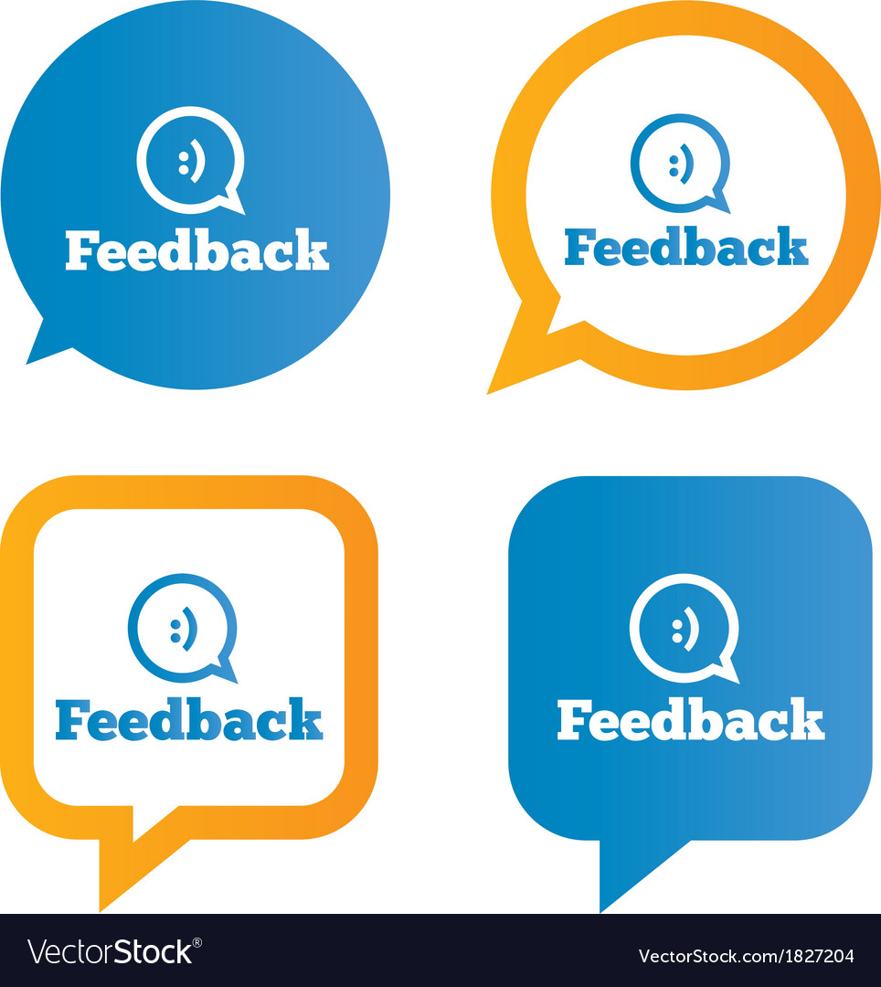 Feedback speech bubbles with smile vector | Price: 1 Credit (USD $1)