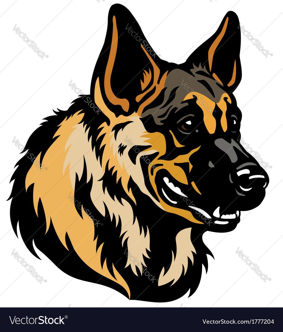 German shepherd head vector | Price: 1 Credit (USD $1)