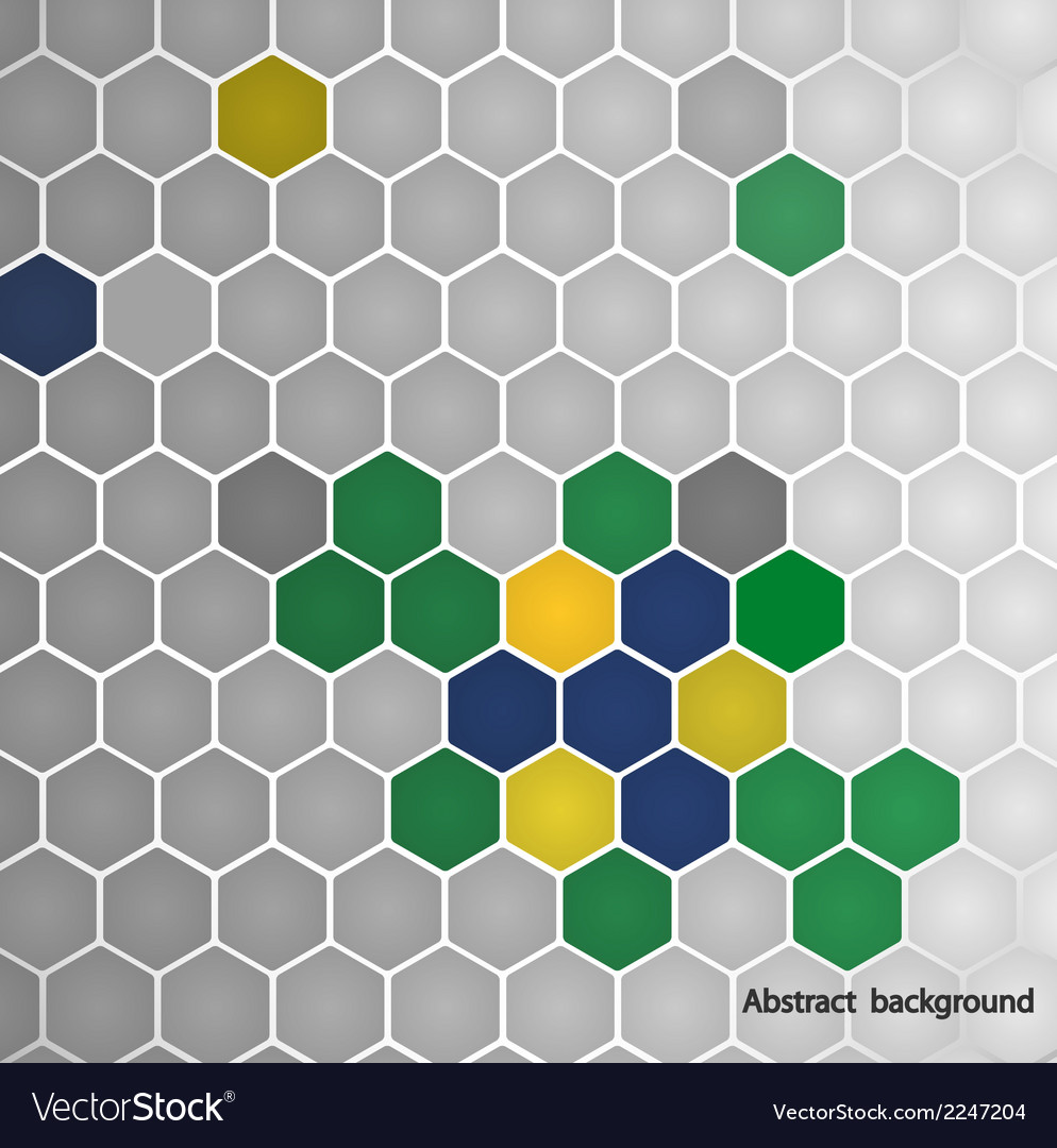 Hexagon in brazil flag concept vector | Price: 1 Credit (USD $1)