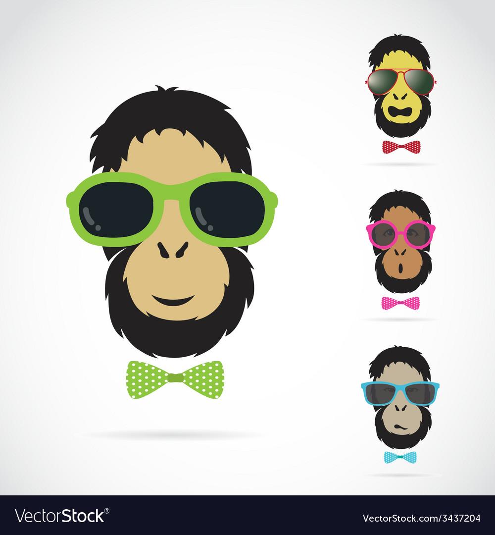 Orangutan glasses vector   Price: 1 Credit (USD $1)